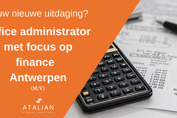 Office Admin focus finance Antwerpen ATALIAN