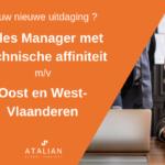 Sales Manager met Technische affiniteit(m_v) - Oost en West-Vlaanderen