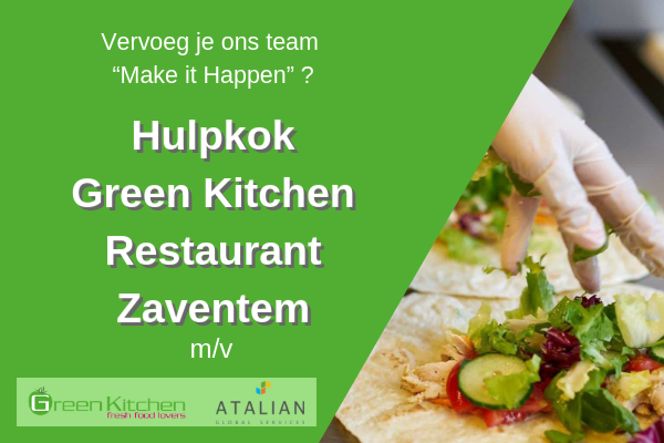 Hulpkok (m/v) Green Kitchen Restaurant - Zaventem