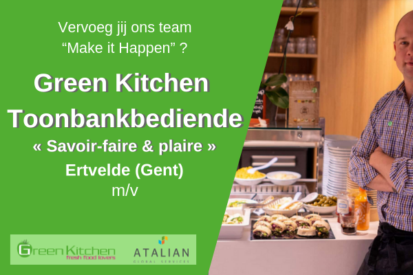 Toonbankbediende Green Kitchen - Ertvelde