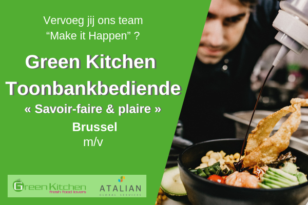 Toonbankbediende Brussel (m_v) Green Kitchen