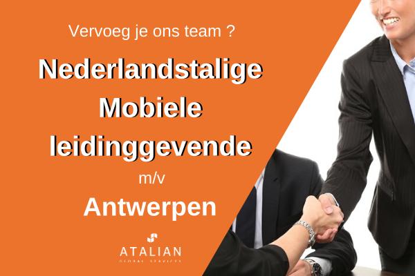 Mobiele leidinggevende Antwerpen