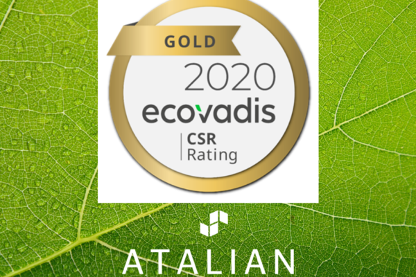 EcoVadis Gold 2020 ATALIAN 3 years