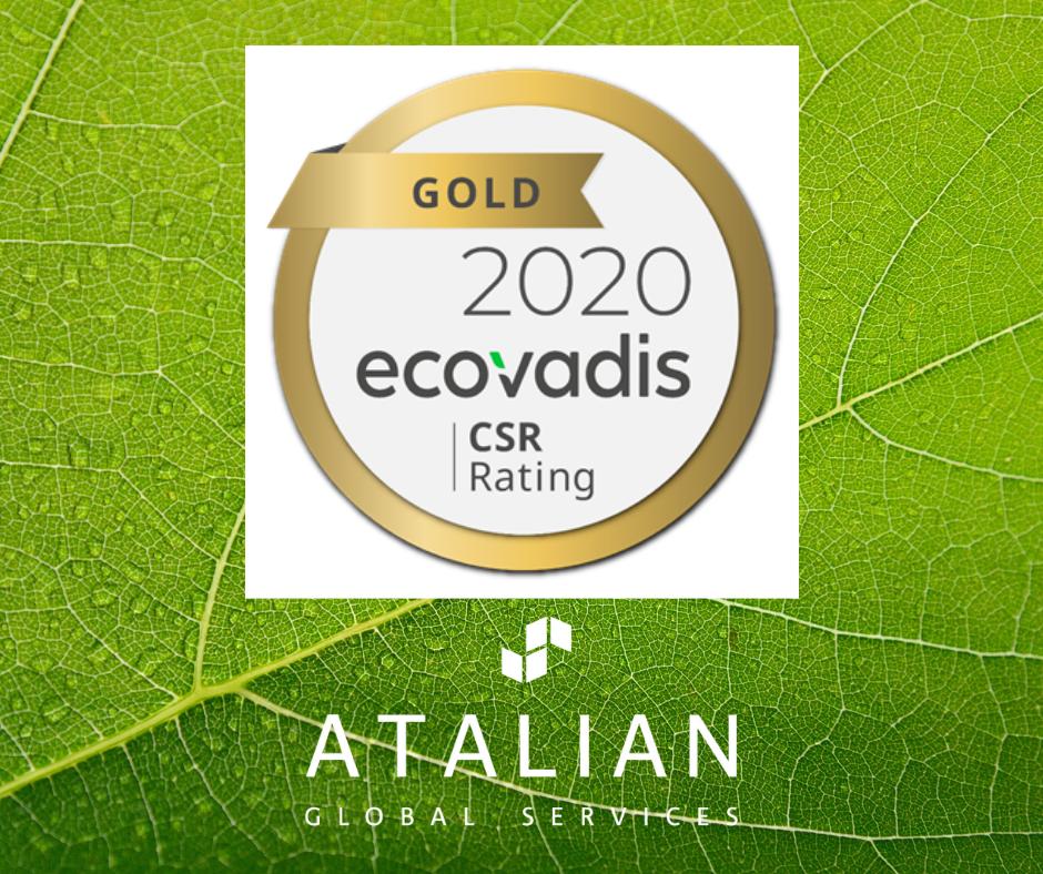 EcoVadis Gold 2020 ATALIAN 3 years