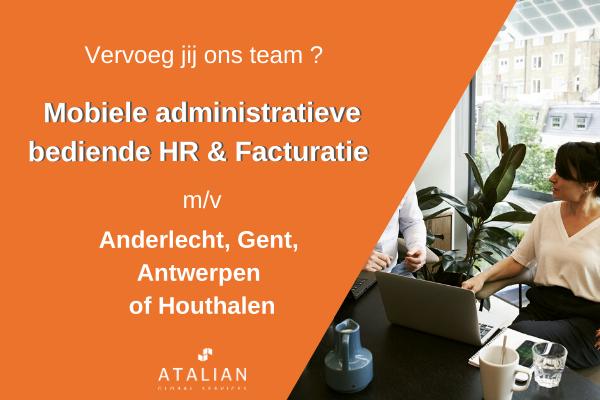 Mobiele administratieve bediende HR en Facturatie