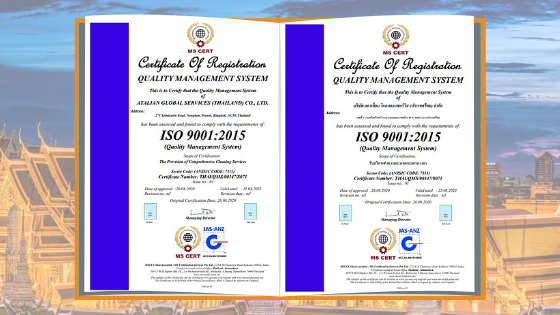 ATALIAN Thailand earns ISO 9001:2015