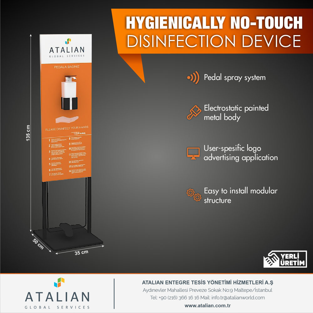 Hygienically No-Touch Disinfection Device