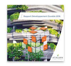 Rapport Développement Durable ATALIAN 2016