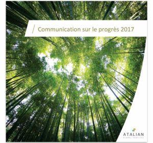Communication sur le progrès 2017
